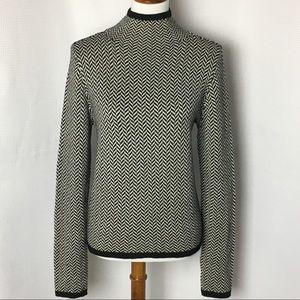 Lauren Ralph Lauren Sweater Herringbone Mock Neck